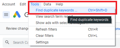 herramienta keywords duplicadas
