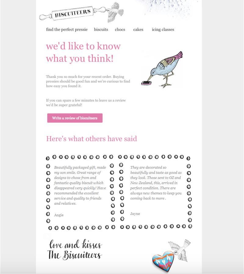 email ejemplo de solicitud de valoraciones